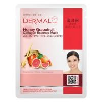 DERMAL Collagen Essence Facial Mask Honey Grapefruit 23g
