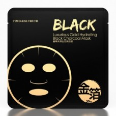 TIMELESS TRUTH TT Face Mask Black Charcoal Luxurious Gold Moisturising 30ml